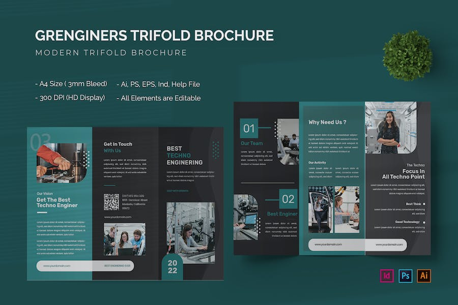 Grenginers - Trifold Brochure