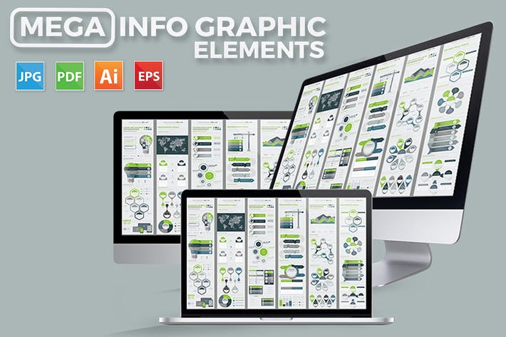Mega Infographics Elements