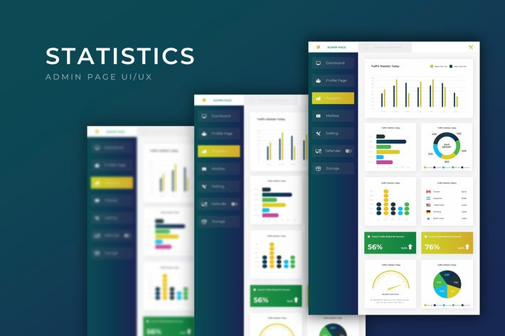 Thumbnail for Statistic Dashboard Page | Admin Template