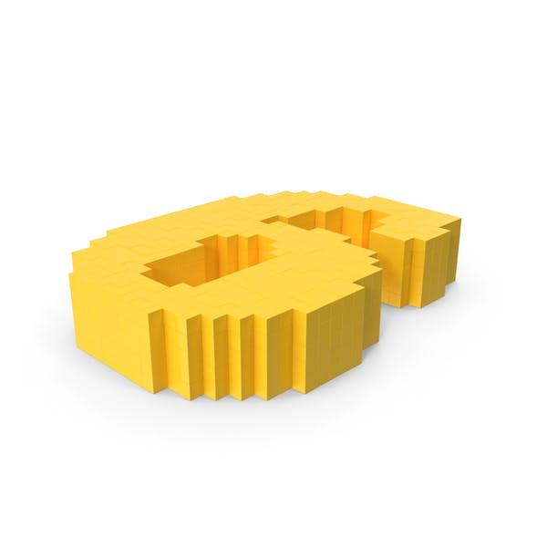 Стилизованный мультфильм Воксель Пиксель Номер 6