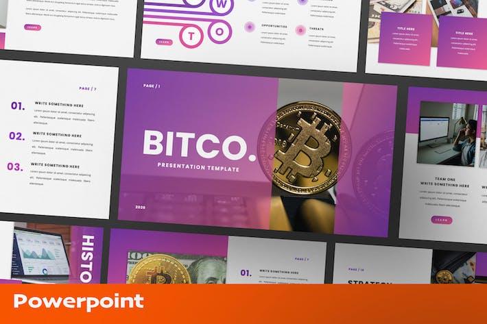 Bitco Cryptocurrency Presentation Template