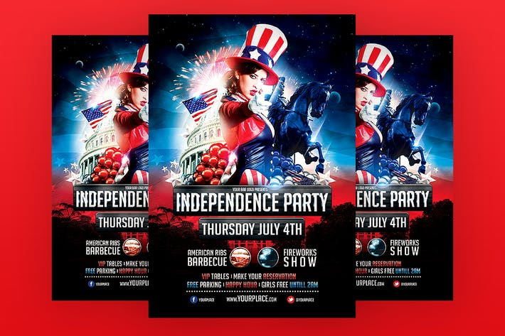 Thumbnail for Independence Party Flyer Template