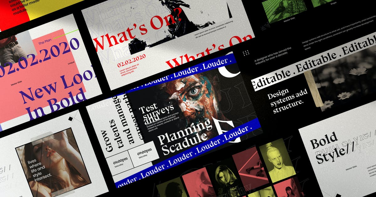 Download Louder - Urban Design Keynote Creative Slide by dirtylinestudio