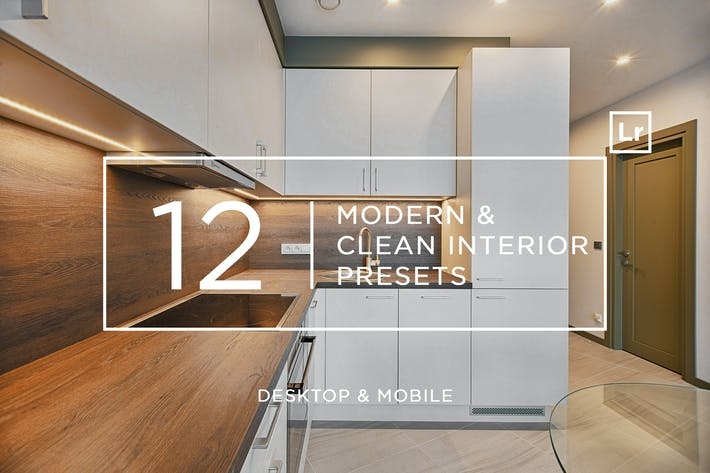 Thumbnail for 12 Modern & Clean Interior Presets + Mobile