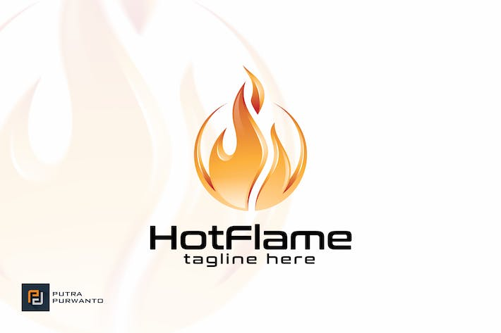 Cover Image For Hot Flame - Logo Template