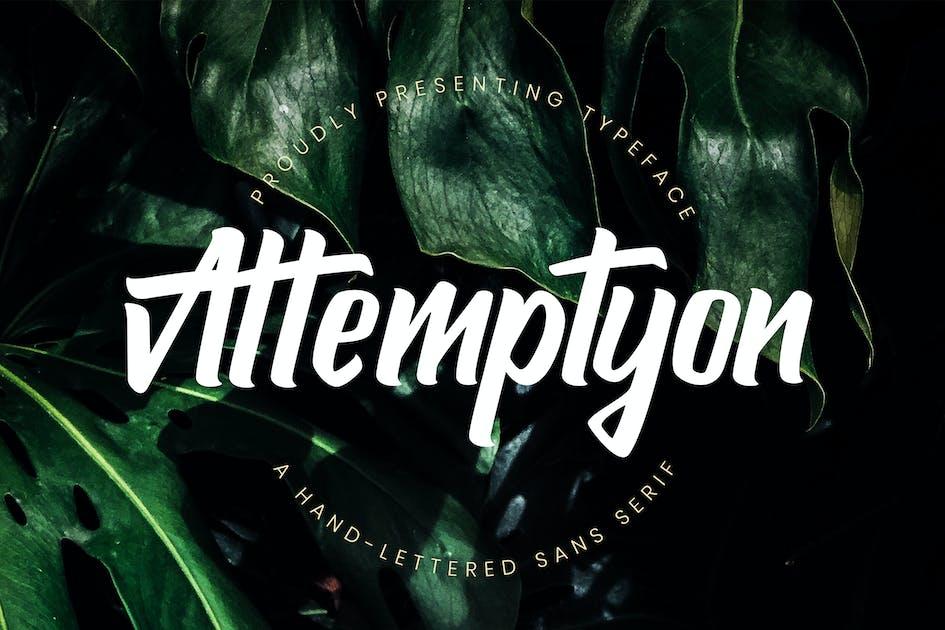 Download Attemptyon Sans Serif Typeface by RahardiCreative