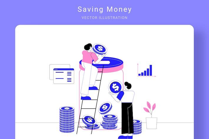 Thumbnail for Saving Money Vector Illustration