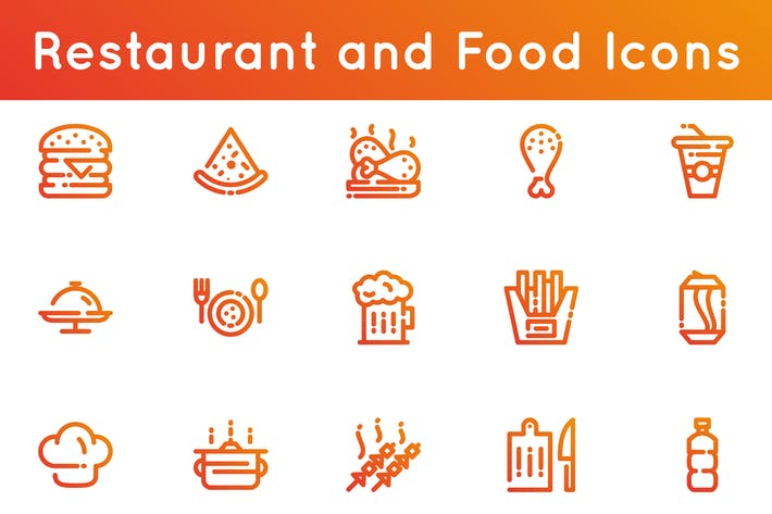 Thumbnail for Restaurant and Food Icons