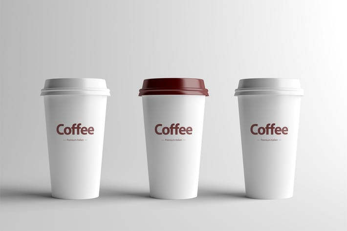 Thumbnail for Paper Coffee Cup Mock-Up - Medium