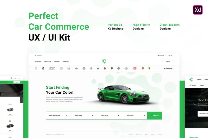 Thumbnail for Perfect Car Commerce UX / UI Kit