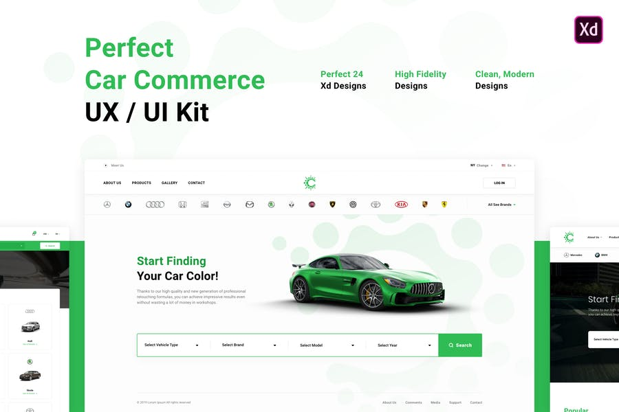Perfect Car Commerce UX / UI Kit