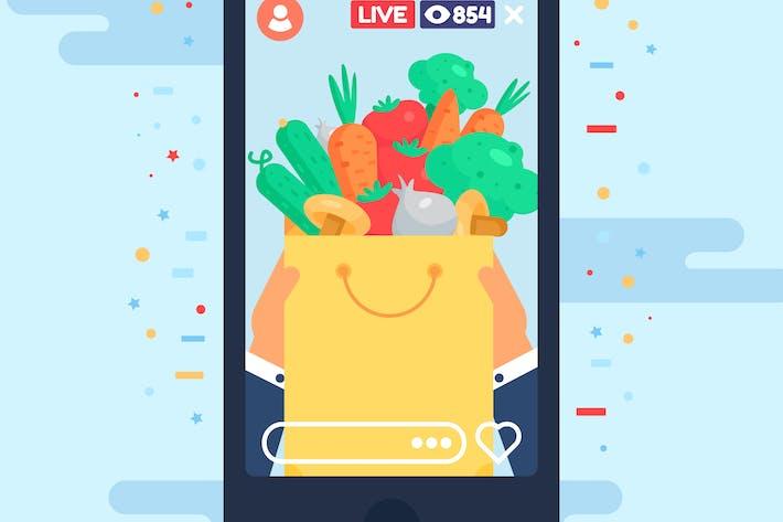 Thumbnail for Food Blog Shopping Stream en direct