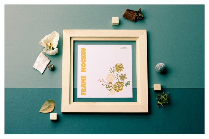 Thumbnail for Square Wooden Frame Mockup