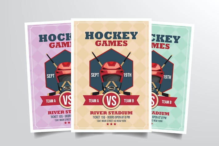 Thumbnail for Hockey Games Flyer Template