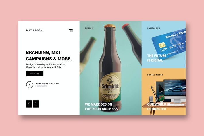 Thumbnail for Design Agency - Landing Page
