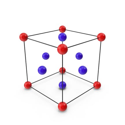 Gestell zentrierte Kristallgitterstruktur