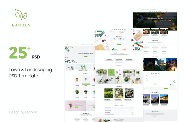 Thumbnail for Garden | Lawn & Landscaping PSD Template