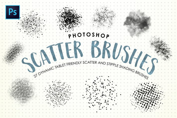 Thumbnail for Photoshop Scatter & Stipple Pinceles