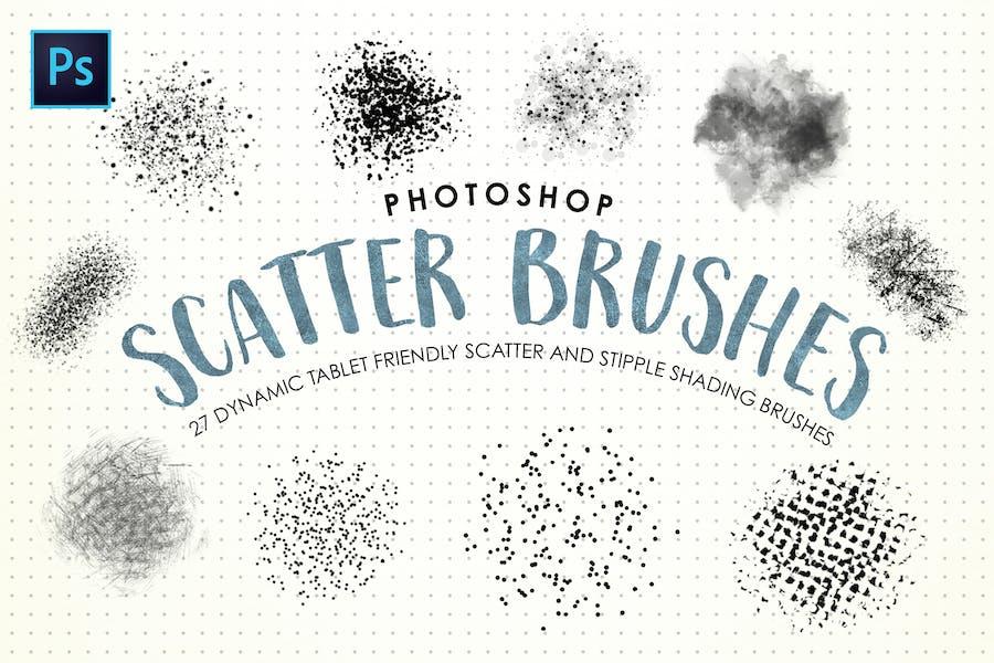 Photoshop Scatter & Stipple Brushes