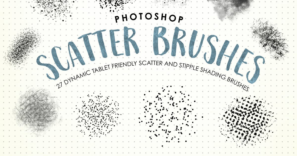 Download Photoshop Scatter & Stipple Brushes by melrodicq