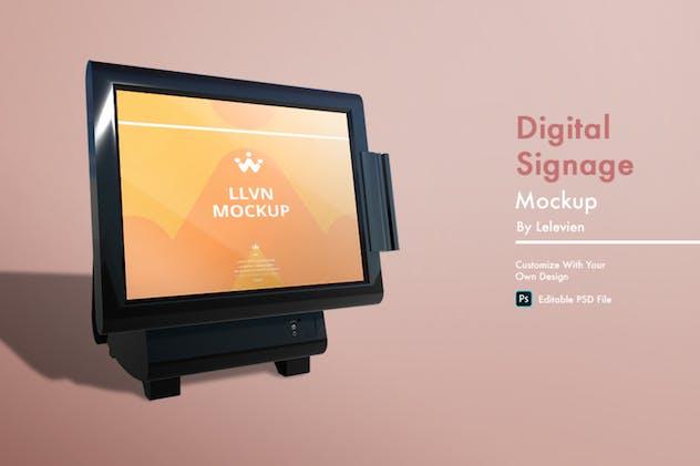 digital signage mockup