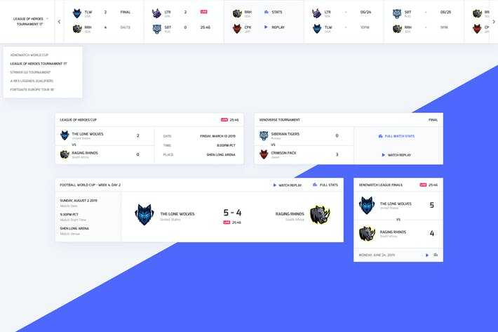 Thumbnail for Sports and eSports Match Results UI Widget V1