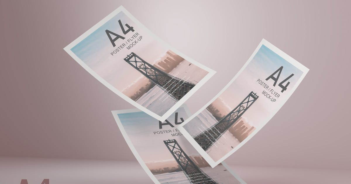 Download A4 Flyer Mockup V.6 by GraphicMonday