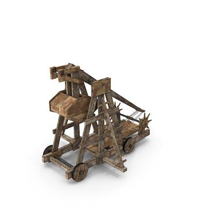 Catapulta de madera vieja