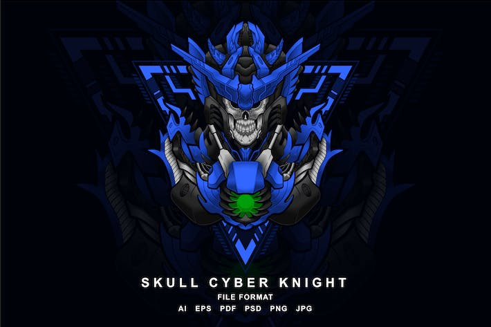 Thumbnail for skull cyber knight