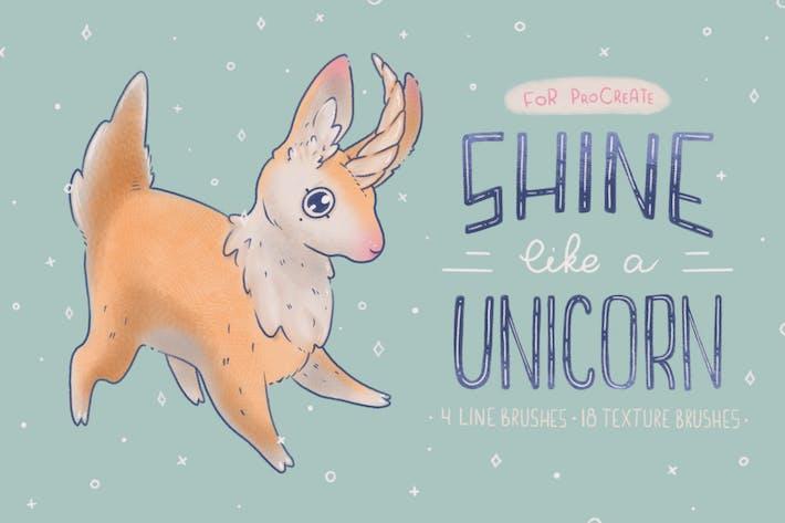 Thumbnail for Shine Like a Unicorn | Procreate Brushes