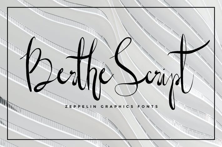 Thumbnail for Berthe Script Font