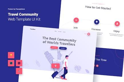 Travel Community Web Template Theme UI Kit