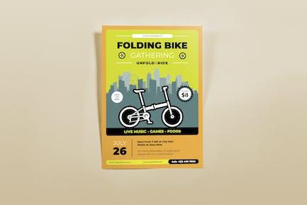 Folding Bike Gathering Flyers