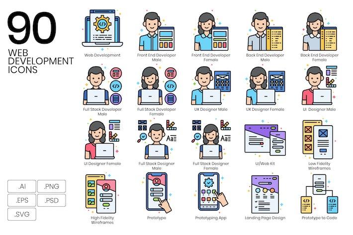 90 Web Development Icons