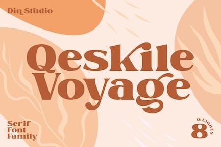 Qeskile Voyage - Display Serif Family 8 Fonts