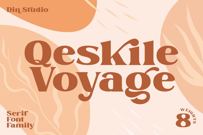 Thumbnail for Qeskile Voyage - Display Serif Family 8 Fonts