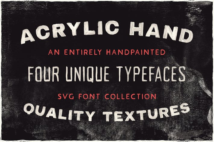 Thumbnail for Acrylic SVG Font Collection