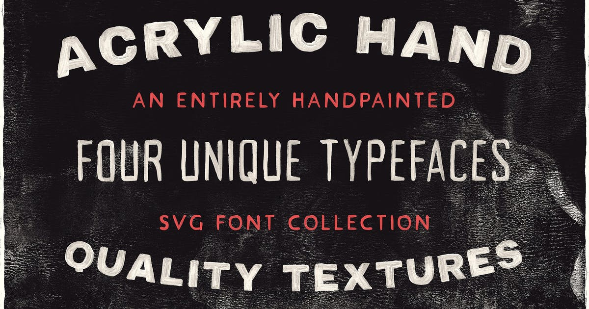 Download Acrylic SVG Font Collection by tomchalkys