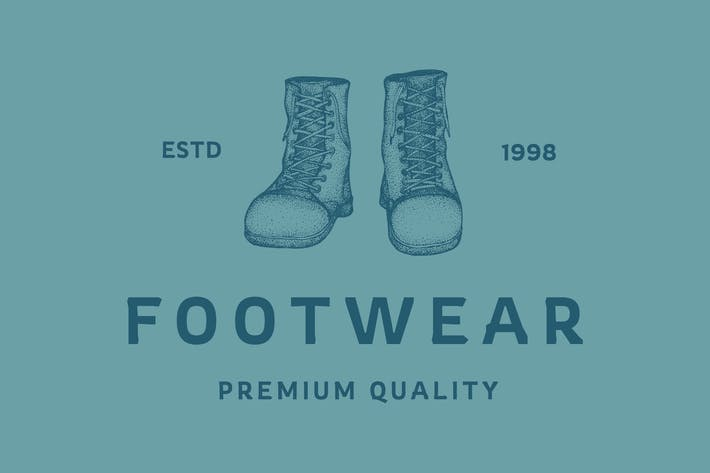 Thumbnail for Footwear Logo - Vintage