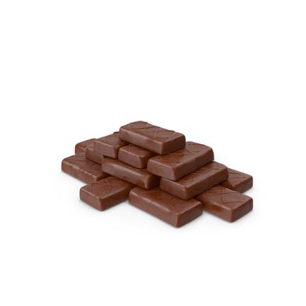 Tapered Pile of Sponge Cakes in Crisp Chocolate Cover