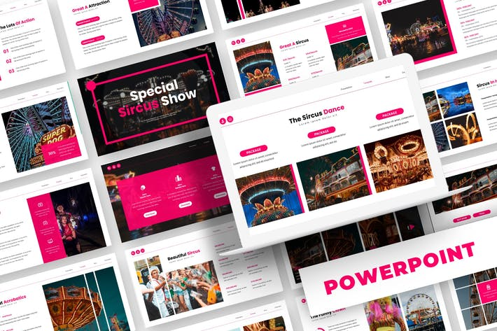 Thumbnail for Special Sircus - Powerpoint Template