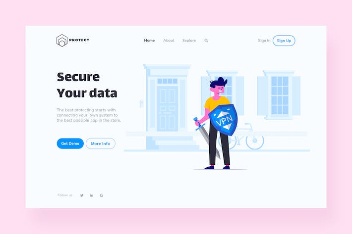 Thumbnail for VPN Landing Page Illustration