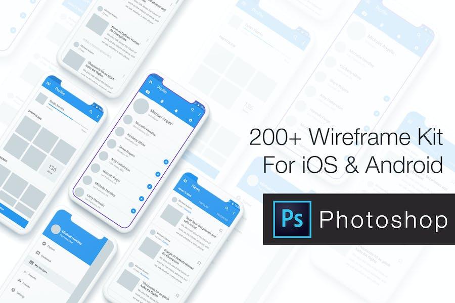 Baseframe - Wireframe UI KIT 200++ PSD Version