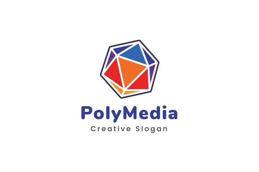 PolyMedia Logo Template