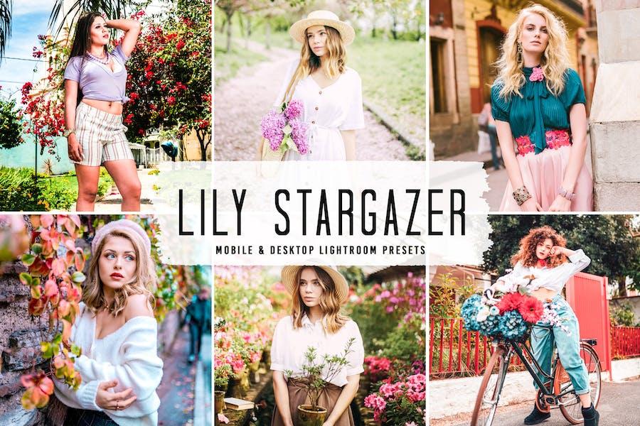Lily Stargazer Mobile & Desktop Lightroom Presets