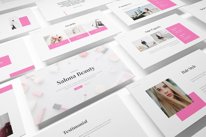 Beauty Salon Powerpoint Template