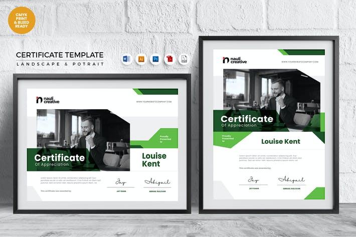 Thumbnail for Professional Certificate Template Vol.33