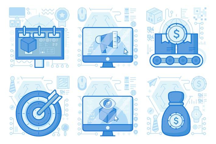 Thumbnail for Маркетинг продукта рекламный щит UX иллюстрации