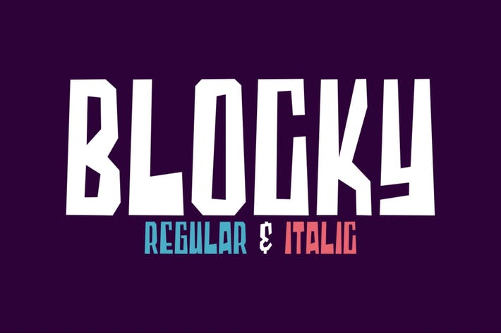 Thumbnail for Blocky | Display Font
