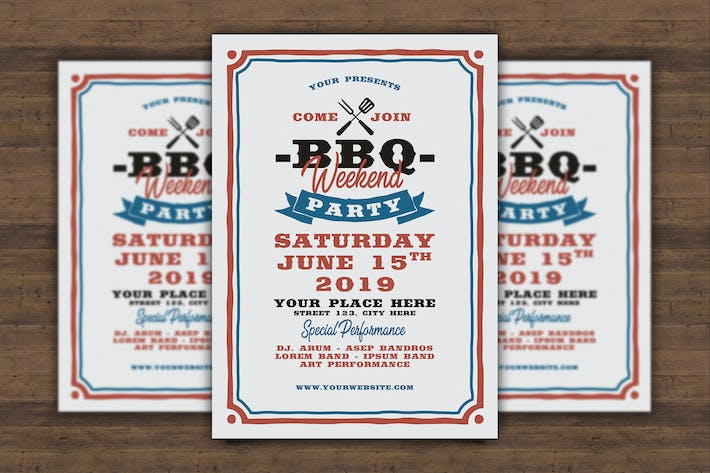 Thumbnail for BBQ Event Flyer